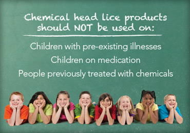 chemical head lice products