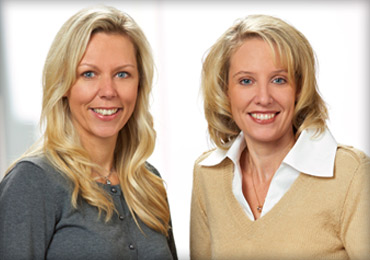 Lisa Rudquist, R.N., and Rachel Knutson, R.N., the founders of Ladibugs, Inc.