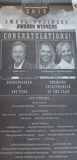 Ladibugs Inc. 2015 TwinWest Chamber of Commerce Emerging Entrepreneur of the Year