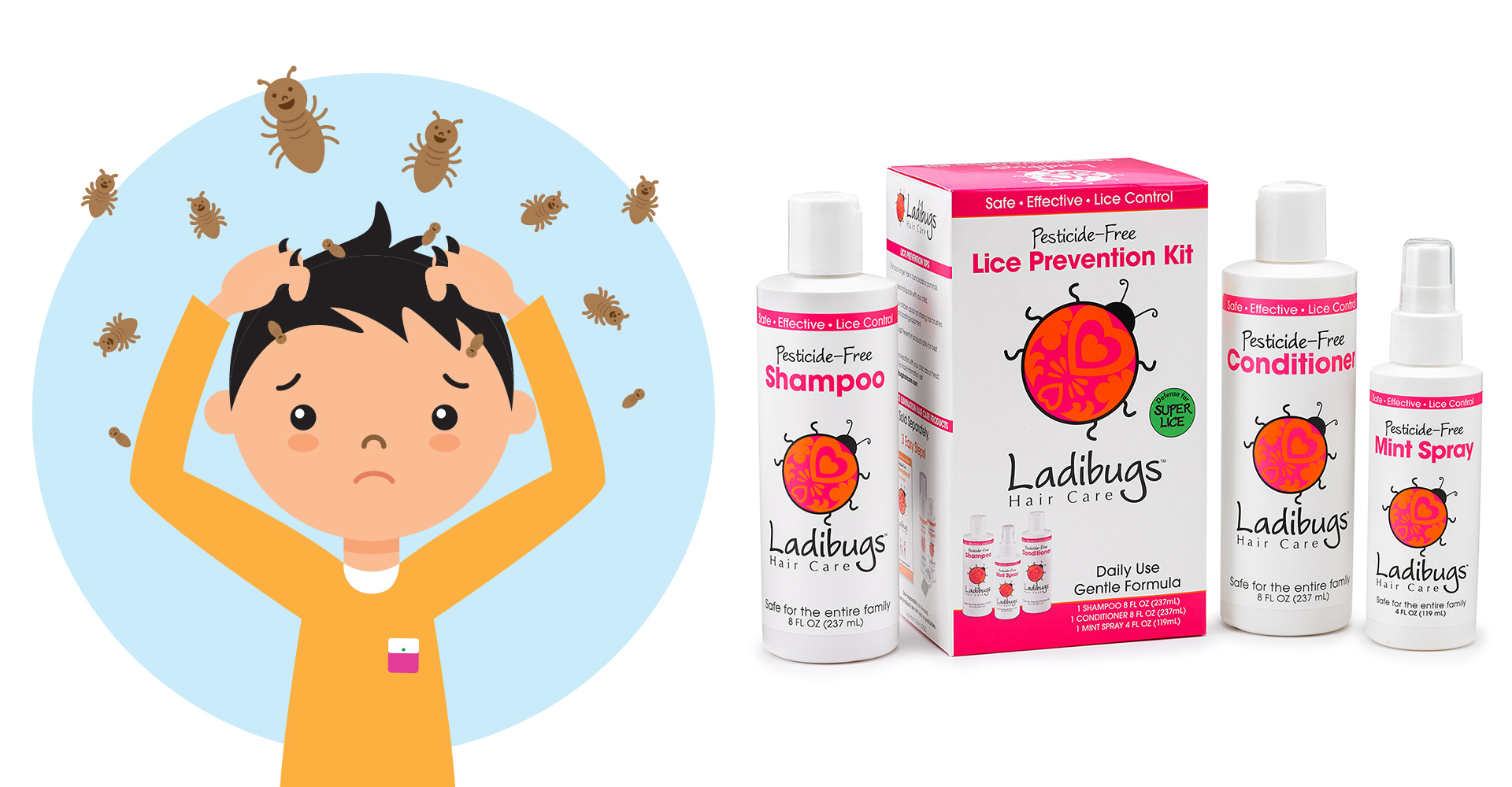 Ladibugs Lice Prevention Products